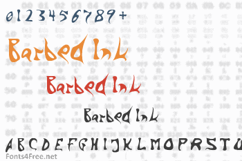 Barbed Ink Font
