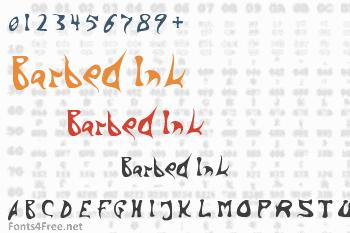 Barbed Ink Font