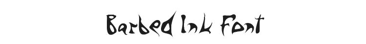 Barbed Ink Font Preview