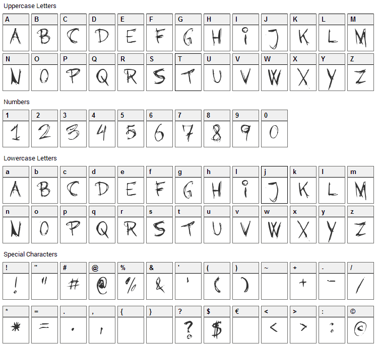 Barbies Jalous Sisters Font Character Map