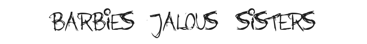 Barbies Jalous Sisters Font Preview