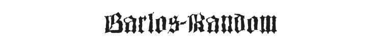 Barlos-Random Font Preview