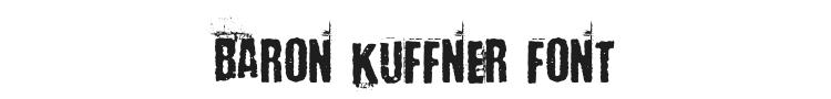 Baron Kuffner Font Preview