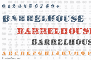 Barrelhouse All Caps Font