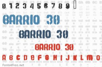 Barrio 30 Font