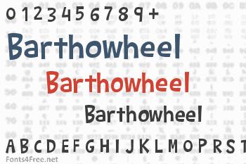 Barthowheel Font