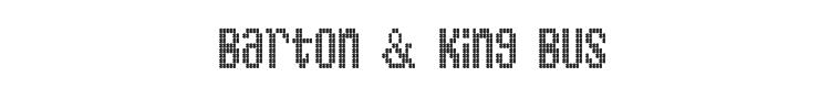 Barton & King Bus Font