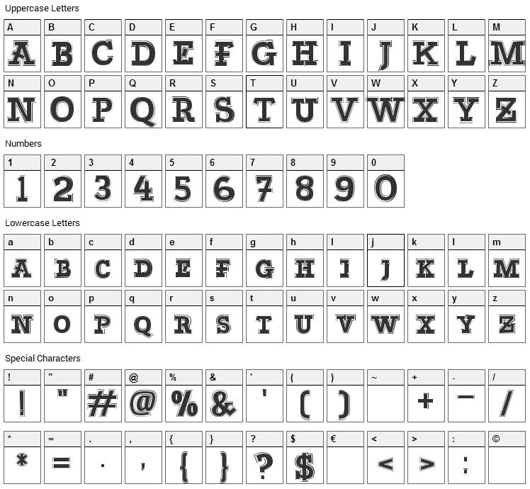 Bascula Font Character Map