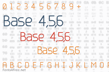 Base 4,5,6 Font