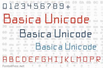 Basica Unicode Font