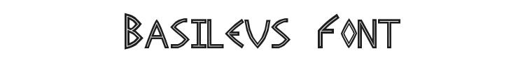Basileus Font Preview
