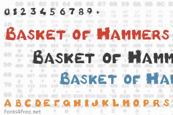 Basket of Hammers Font