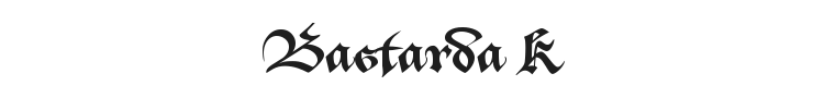 Bastarda K Font