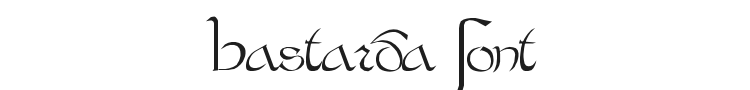 Bastarda Font Preview