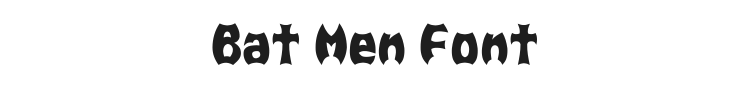 Bat Men Font Preview