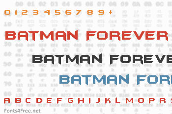 Batman Forever Font