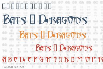Bats & Dragons - Abaddon Font