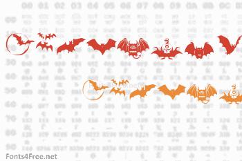 Bats Symbols Font