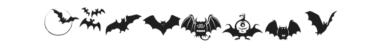 Bats Symbols Font Preview