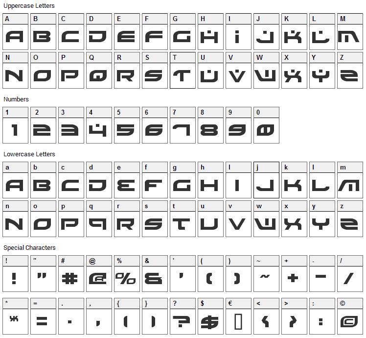 Battlefield Font Character Map
