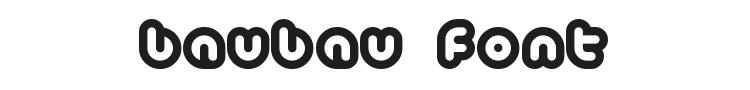 Baubau Font Preview