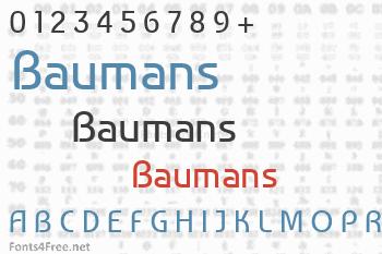 Baumans Font