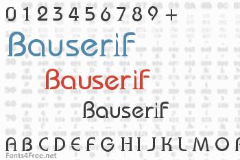 Bauserif Font