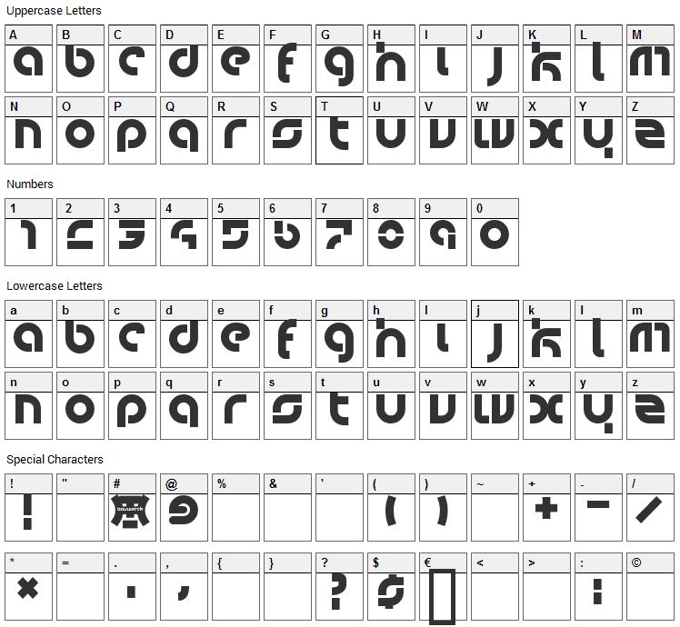 Bauwerck Font Character Map