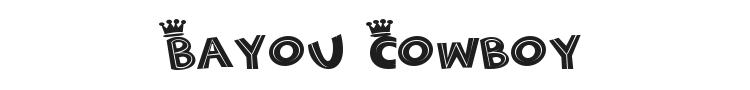 Bayou Cowboy Font Preview