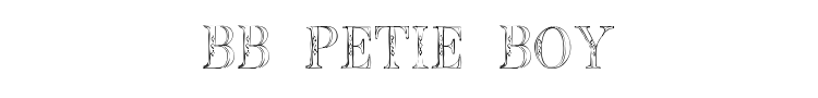BB Petie Boy Font Preview