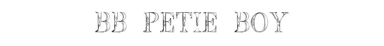 BB Petie Boy Font Preview