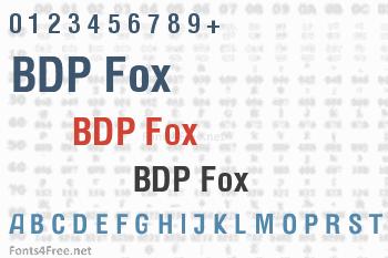 BDP Fox Font