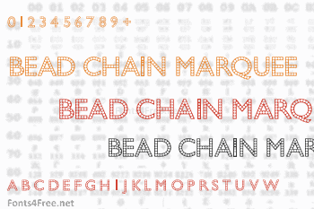 Bead Chain Marquee Font