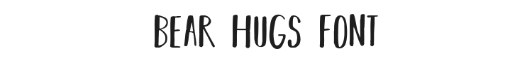 Bear Hugs Font Preview