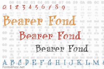 Bearer Fond Font