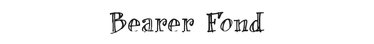 Bearer Fond Font Preview