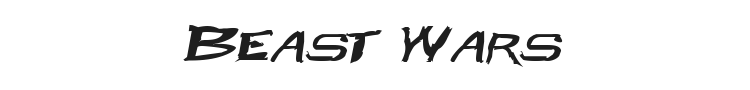 Beast Wars Font Preview