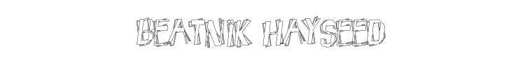 Beatnik Hayseed Font Preview