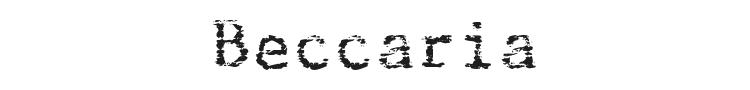 Beccaria Font