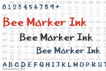 Bee Marker Ink Font