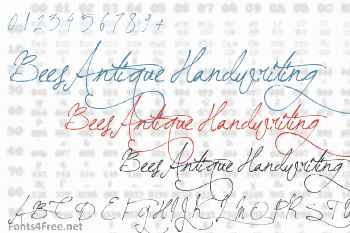 BeesAntique Handwriting Font