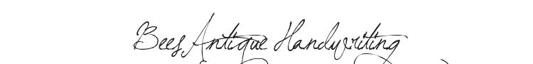 BeesAntique Handwriting Font