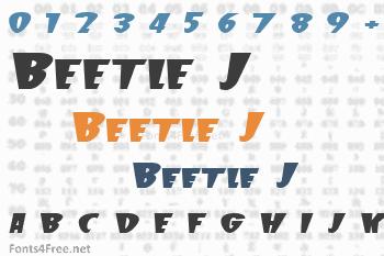 Beetle J Font