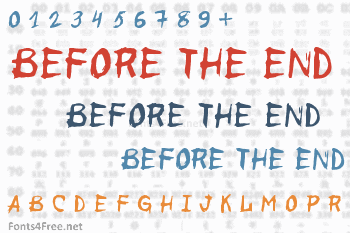 Before the End Font