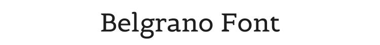 Belgrano Font Preview