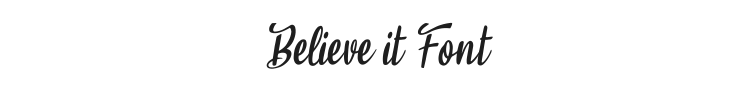 Believe it Font