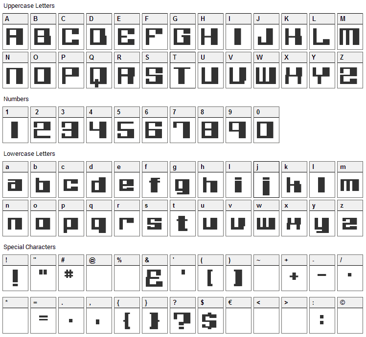 Believer Font Character Map