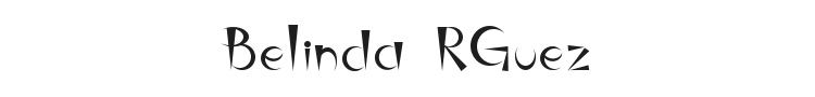 Belinda RGuez Font Preview