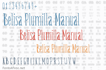 Belisa Plumilla Manual Font
