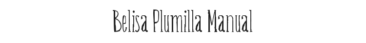 Belisa Plumilla Manual Font Preview